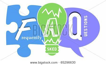 FAQ in Colourful Shapes