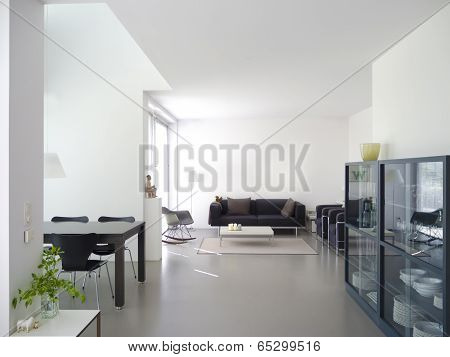 modern living room with copy space