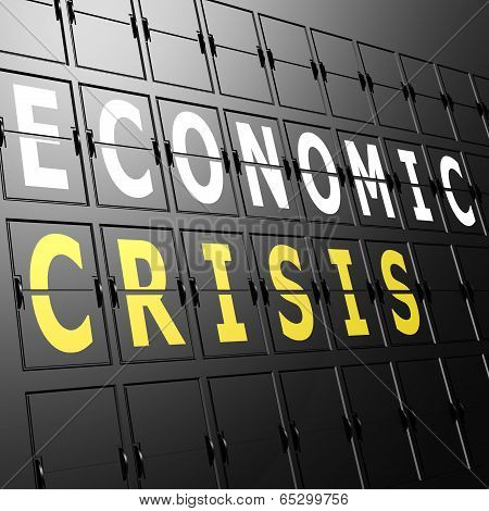 Airport Display Economic Crisis