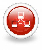 foto of vpn  - Icon Button Pictogram Image Illustration with Network symbol - JPG