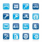 stock photo of barometer  - Car service maintenance icons  - JPG