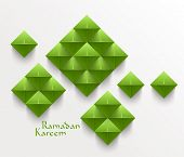 pic of hari raya  - Vector 3D Folded Paper Graphics - JPG