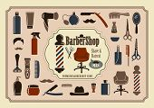 stock photo of barber razor  - Symbols of a man - JPG