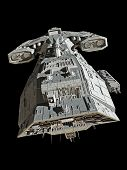 pic of starship  - Science fiction spaceship isolated on a black background - JPG