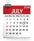 picture of calendar 2014  - Calendar of July 2014 - JPG