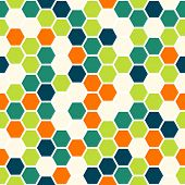 picture of hexagon pattern  - Hexagon colorful seamless pattern background texture - JPG