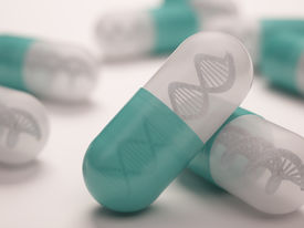 foto of prophylactic  - Pill with a dna inside - JPG