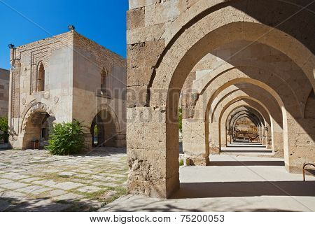 Courtyard of the Sultanhani caravansary on the Silk Road - Turkey
