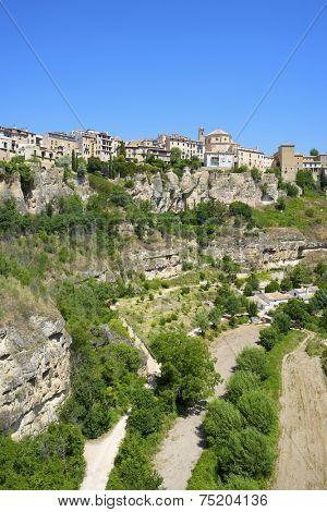 Buildings known as Casas Colgadas in Cuenca, Castilla La Mancha, Spain.