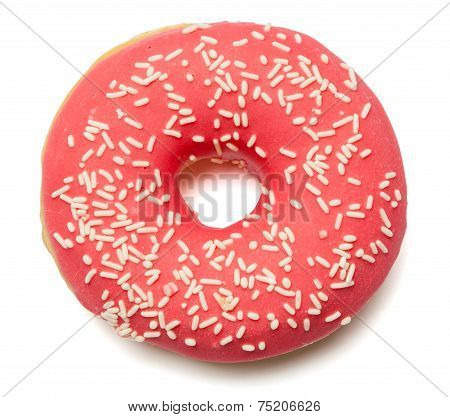 Pink, Red Donut With Sugar Sprinkles