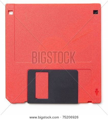 Red 3.5 Inch Floppy Disk From The Late 80S/early 90S
