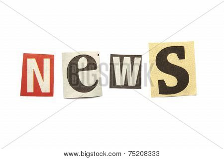 Cut Out Letters Saying News