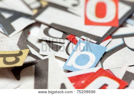 Newspaper Letters Background