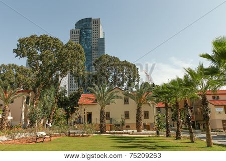 Sarona shopping complex in Tel Aviv