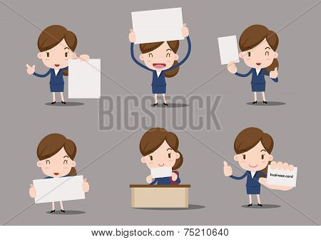 business character - blank paper