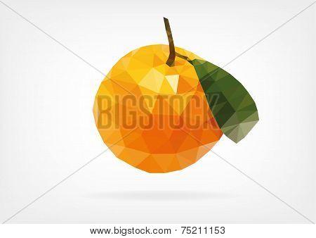 Low Poly Mandarin Orange
