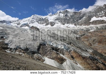 Mischabel Group with Fee Glacier