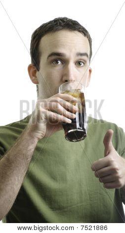 Man Drinking Pop