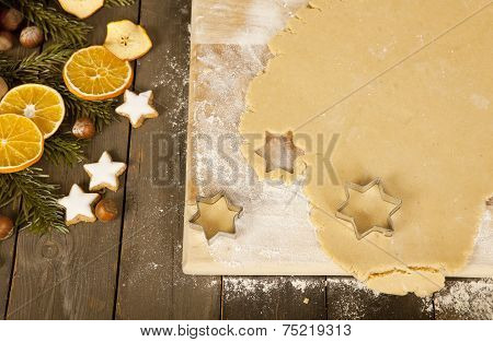 Cut Out Christmas Cookies Stars