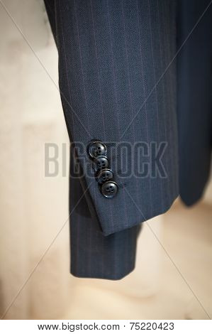 Photo Of Male Jacket Sleeve With Buttons