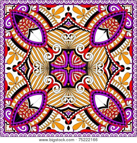 silk neck scarf or kerchief square pattern design