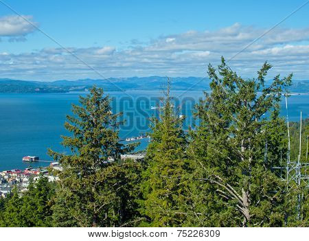 A View Of The Astoria Oregon Area From The Astoria Column