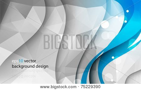 eps10 vector abstract business template with triangular shapes and wave with shadow concept background