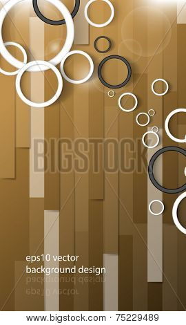 eps10 vector overlapping rings on wood floor background