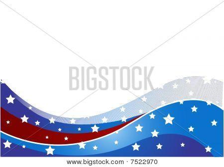 USA flag theme