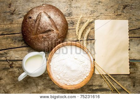 Bakery Recipe Background.