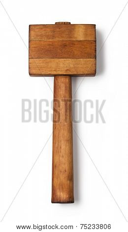 mallet wood isolated on a white background
