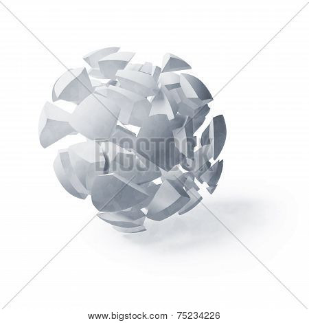 Light Blue Abstract 3D Spherical Object