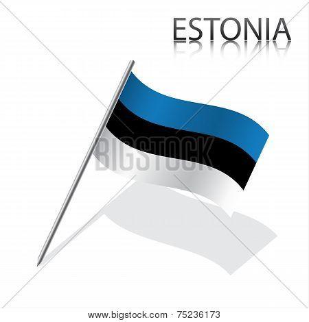 Realistic Estonian flag