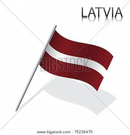 Realistic Latvian flag