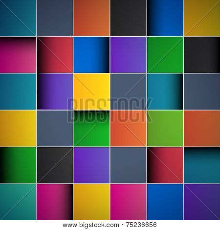 Color tiles abstract background