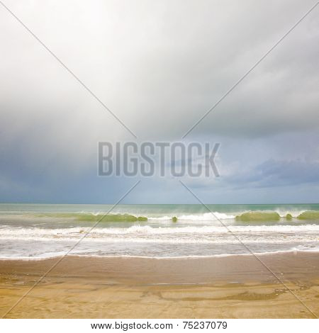 Pastel seascape light background