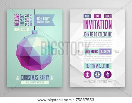 Christmas flyer - geometric stile.