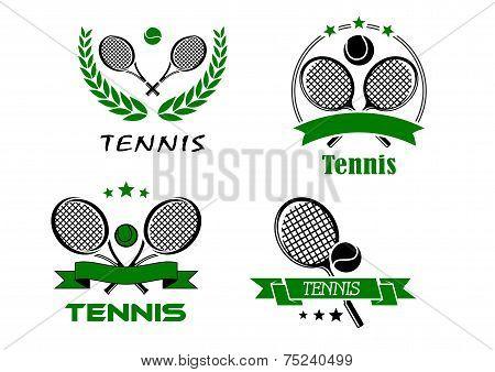 Set of Tennis badges or emblems