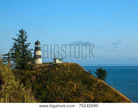 Cape Disappointment Lighthouse On The Washington Coast Usa
