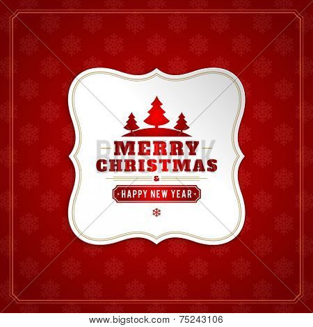 Christmas background vector image. Christmas card or invitation and snowflakes pattern.