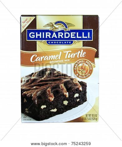 Box Of Ghirardelli Caramel Turtle Brownie Mix
