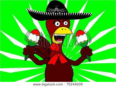mexican chicken mariachi background2