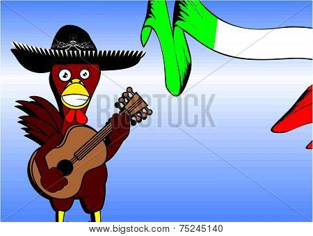 mexican chicken mariachi background