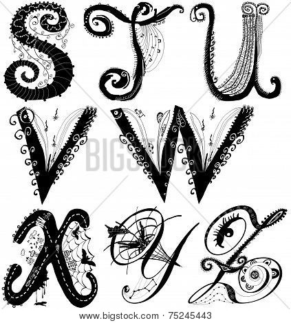 Curly Playful Alphabet - S To Z