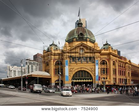Flinders St Station, Melbourne, Australia.
