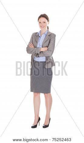 Confident Business Team Standing Arms Crossed