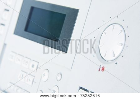 Control panel of gas boiler