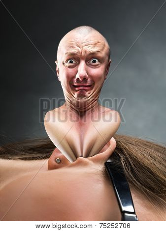 Man stucks in an ear