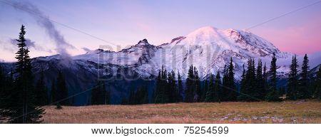 Sunrise Mt Rainier National Park Cascade Volcanic Arc