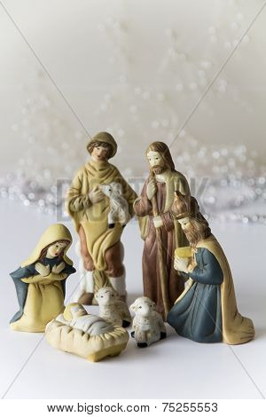 Light Nativity Scene